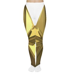Stars Gold Color Transparency Women s Tights
