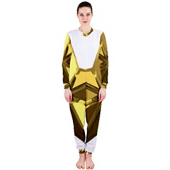 Stars Gold Color Transparency Onepiece Jumpsuit (ladies)