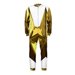 Stars Gold Color Transparency Onepiece Jumpsuit (kids)