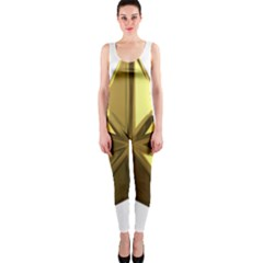 Stars Gold Color Transparency OnePiece Catsuit