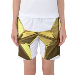 Stars Gold Color Transparency Women s Basketball Shorts