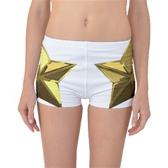 Stars Gold Color Transparency Boyleg Bikini Bottoms