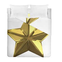 Stars Gold Color Transparency Duvet Cover Double Side (full/ Double Size)