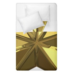 Stars Gold Color Transparency Duvet Cover Double Side (single Size)