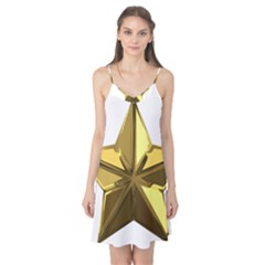 Stars Gold Color Transparency Camis Nightgown
