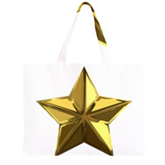 Stars Gold Color Transparency Large Tote Bag
