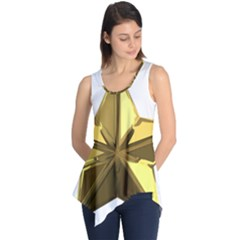Stars Gold Color Transparency Sleeveless Tunic