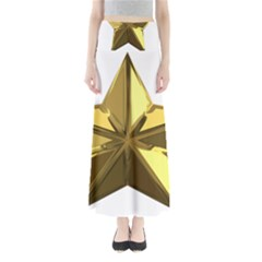 Stars Gold Color Transparency Maxi Skirts