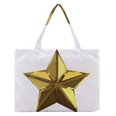 Stars Gold Color Transparency Medium Zipper Tote Bag