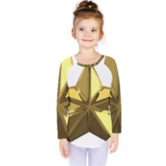 Stars Gold Color Transparency Kids  Long Sleeve Tee