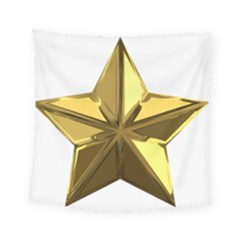 Stars Gold Color Transparency Square Tapestry (small)