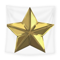 Stars Gold Color Transparency Square Tapestry (large)