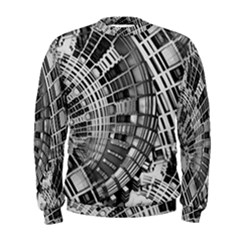 Semi Circles Abstract Geometric Modern Art Men s Sweatshirt