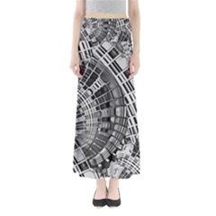 Semi Circles Abstract Geometric Modern Art Maxi Skirts