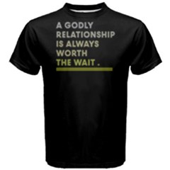 A Godly Relationship Is Always Worth The Wait   Men s Cotton Tee