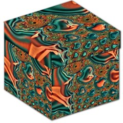 Painted Fractal Storage Stool 12