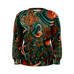 Painted Fractal Women s Sweatshirt