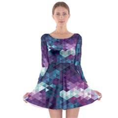 Geo Thunderstorm Long Sleeve Skater Dress