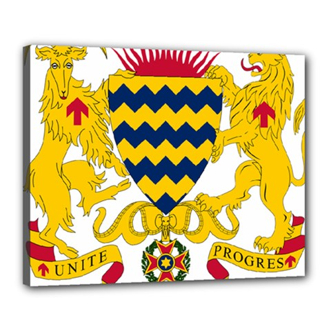 Coat of Arms of Chad Canvas 20  x 16
