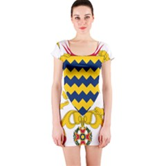 Coat of Arms of Chad Short Sleeve Bodycon Dress