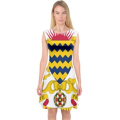 Coat of Arms of Chad Capsleeve Midi Dress
