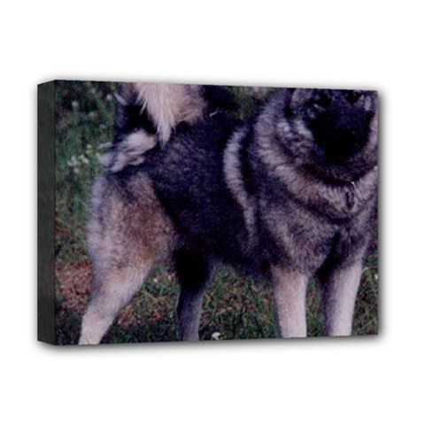 Norwegian Elkhound Full 3 Deluxe Canvas 16  x 12