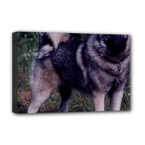 Norwegian Elkhound Full 3 Deluxe Canvas 18  x 12