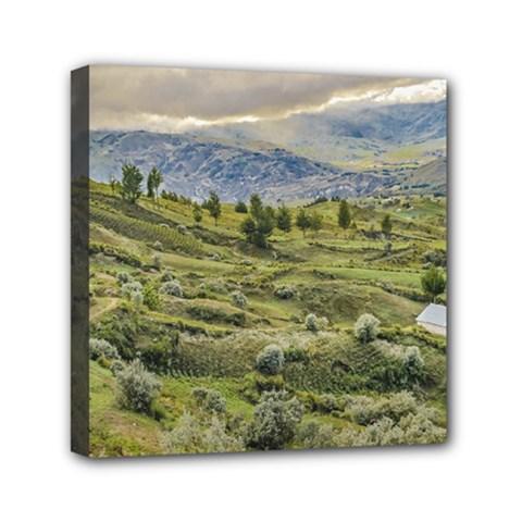 Andean Rural Scene Quilotoa, Ecuador Mini Canvas 6  x 6