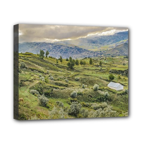 Andean Rural Scene Quilotoa, Ecuador Canvas 10  x 8