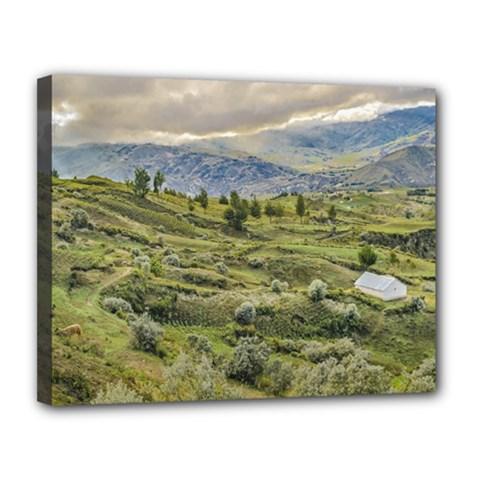 Andean Rural Scene Quilotoa, Ecuador Canvas 14  x 11