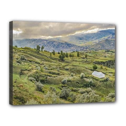 Andean Rural Scene Quilotoa, Ecuador Canvas 16  x 12