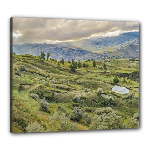Andean Rural Scene Quilotoa, Ecuador Canvas 24  x 20