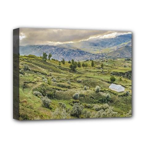 Andean Rural Scene Quilotoa, Ecuador Deluxe Canvas 16  x 12