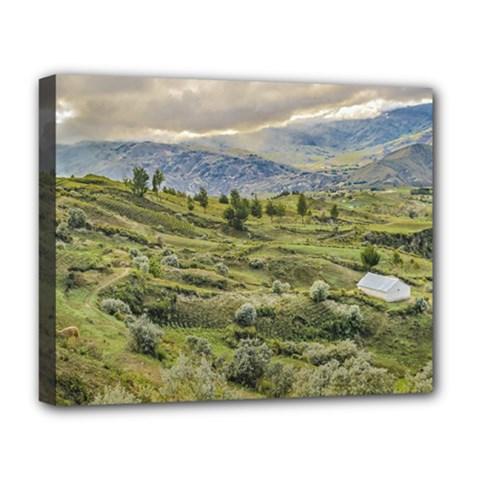 Andean Rural Scene Quilotoa, Ecuador Deluxe Canvas 20  x 16