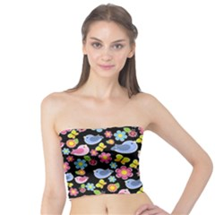 Spring pattern - black Tube Top