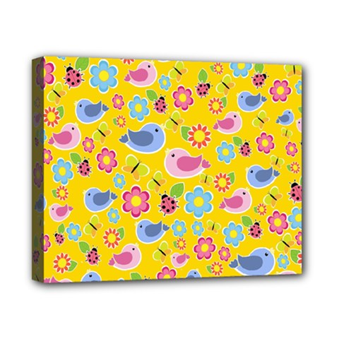 Spring pattern - yellow Canvas 10  x 8