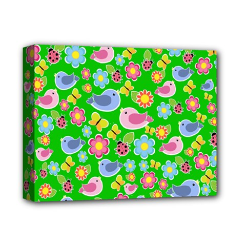 Spring pattern - green Deluxe Canvas 14  x 11