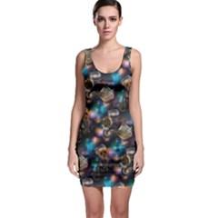 Galaxy Cats Sleeveless Bodycon Dress