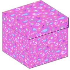 Spring pattern - pink Storage Stool 12