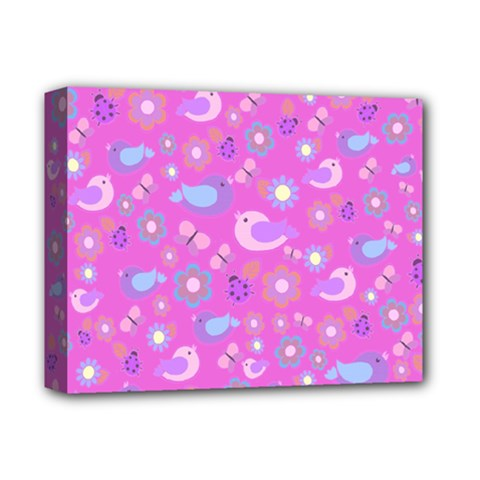 Spring pattern - pink Deluxe Canvas 14  x 11
