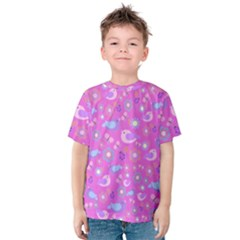 Spring pattern - pink Kids  Cotton Tee