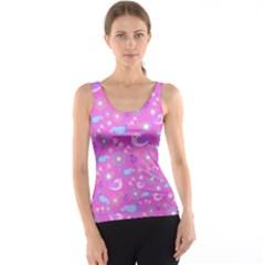 Spring pattern - pink Tank Top