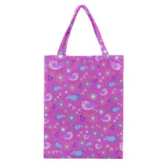 Spring pattern - pink Classic Tote Bag