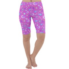Spring pattern - pink Cropped Leggings