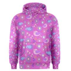 Spring pattern - pink Men s Pullover Hoodie