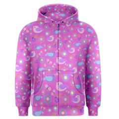 Spring pattern - pink Men s Zipper Hoodie