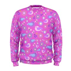 Spring pattern - pink Men s Sweatshirt