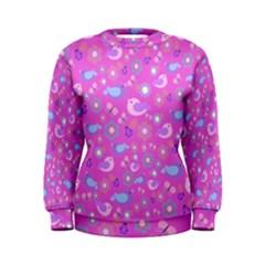 Spring pattern - pink Women s Sweatshirt