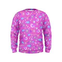 Spring pattern - pink Kids  Sweatshirt