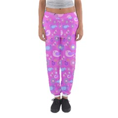 Spring pattern - pink Women s Jogger Sweatpants